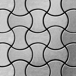 Infinit Stainless Steel Brushed Finish | Metal mosaics | Alloy