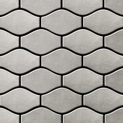 Karma Stainless Steel Brushed Finish | Metal mosaics | Alloy