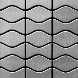Kismet & Karma Stainless Steel Brushed Finish | Mosaicos de metal | Alloy