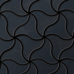 Ninja Raw Steel Tiles | Mosaïques en métal | Alloy
