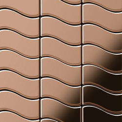 Flux Titanium Amber Mirror Tiles | Metal mosaics | Alloy