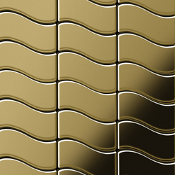 Flux Titanium Gold Mirror Tiles | Mosaïques en métal | Alloy