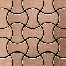 Infinit Titanium Amber Brushed Tiles | Metallmosaike | Alloy