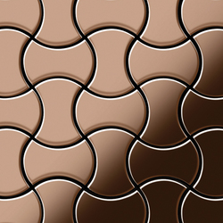 Infinit Titanium Amber Mirror Tiles | Mosaici in metallo | Alloy