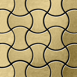 Infinit Titanium Gold Brushed Tiles | Mosaïques en métal | Alloy