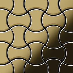 Infinit Titanium Gold Mirror Tiles | Metallmosaike | Alloy