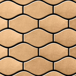 Karma Titanium Amber Brushed Tiles | Metallmosaike | Alloy