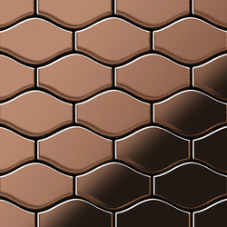 Karma Titanium Amber Mirror Tiles | Mosaici in metallo | Alloy