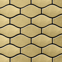 Karma Titanium Gold Brushed Tiles | Mosaïques en métal | Alloy