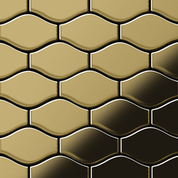 Karma Titanium Gold Mirror Tiles | Metall Mosaike | Alloy