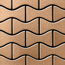 Kismet Titanium Amber Brushed Tiles | Metall Mosaike | Alloy