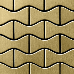 Kismet Titanium Gold Brushed Tiles | Metallmosaike | Alloy
