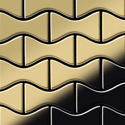 Kismet Titanium Gold Mirror Tiles | Metall Mosaike | Alloy