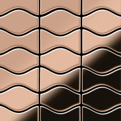 Kismet & Karma Titanium Amber Mirror Tiles | Mosaici in metallo | Alloy