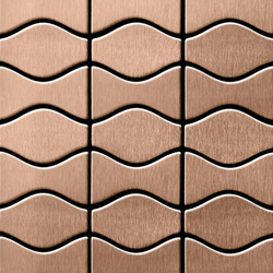 Kismet & Karma Titanium Amber Brushed Tiles | Mosaici in metallo | Alloy