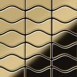Kismet & Karma Titanium Gold Mirror Tiles | Mosaici metallo | Alloy
