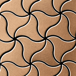 Ninja Titanium Amber Brushed Tiles | Mosaïques en métal | Alloy