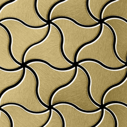 Ninja Titanium Gold Brushed Tiles | Metal mosaics | Alloy