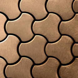 Ubiquity Titanium Amber Brushed Tiles | Mosaici in metallo | Alloy