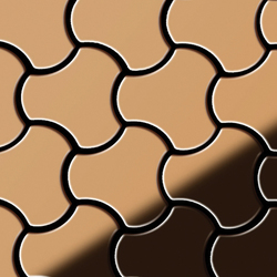 Ubiquity Titanium Amber Mirror Tiles | Mosaici metallo | Alloy