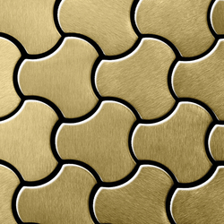 Ubiquity Titanium Gold Brushed Tiles | Mosaicos | Alloy