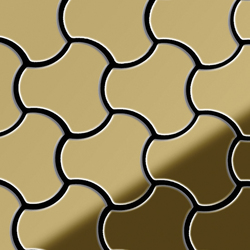 Ubiquity Titanium Gold Mirror Tiles | Metallmosaike | Alloy