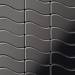 Flux Titanium Smoke Mirror Tiles | Mosaïques en métal | Alloy