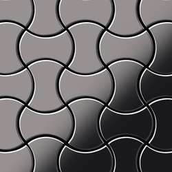 Infinit Titanium Smoke Mirror Tiles | Metallmosaike | Alloy
