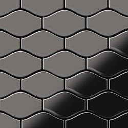 Karma Titanium Smoke Mirror Tiles | Metall Mosaike | Alloy
