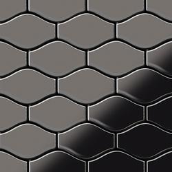 Karma Titanium Smoke Mirror Tiles | Metal mosaics | Alloy