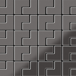 Kink Titanium Smoke Mirror Tiles | Mosaïques | Alloy