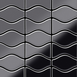 Kismet & Karma Titanium Smoke Mirror Tiles | Mosaici metallo | Alloy