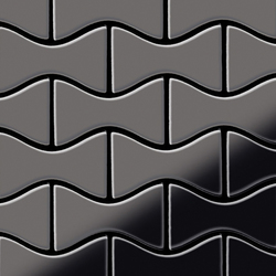 Kismet Titanium Smoke Mirror Tiles | Metallmosaike | Alloy