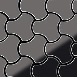 Ubiquity Titanium Smoke Mirror Tiles | Metall Mosaike | Alloy