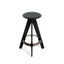 Slab Bar Stool Black | Bar stools | Tom Dixon
