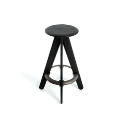 Slab Barstool Black | Stools | Tom Dixon