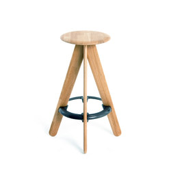 Slab Bar Stool Natural | Bar stools | Tom Dixon