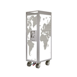 bordbar silver edition worldmap | Service Trolleys / Tische | bordbar