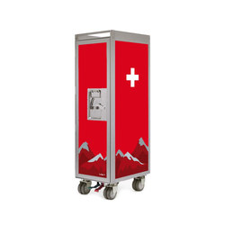 bordbar silver edition swiss cross | Service Trolleys / Tische | bordbar