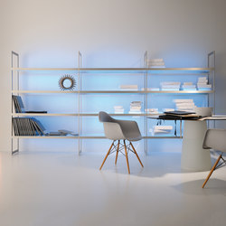 Lighting system 6 Light shelf 300 | Librerie con illuminazione integrata | GERA