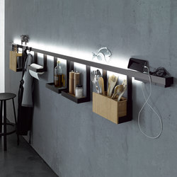 Light rail with glass shelf | GERA light system 6 | Lampade parete | GERA