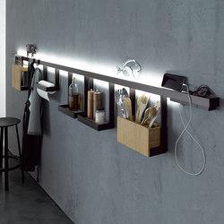 Light rail with glass shelf   GERA light system 6   Wall lights   GERA