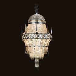 Cologne Chandelier | Ceiling suspended chandeliers | LOBMEYR