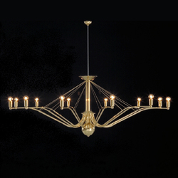 GREN chandelier | Ceiling suspended chandeliers | Okholm Lighting
