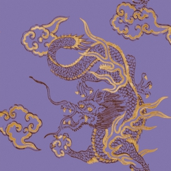 Foulards | Dragon VP 681 03 | Wall coverings / wallpapers | Elitis
