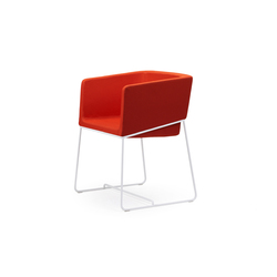 Tonic armchair metal | Visitors chairs / Side chairs | Rossin