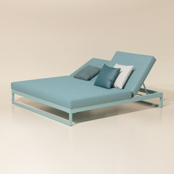 Landscape double lounger with 5-position | Lettini giardino | KETTAL