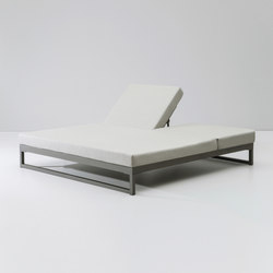 Landscape double lounger with 5-position | Sdraio da giardino | KETTAL