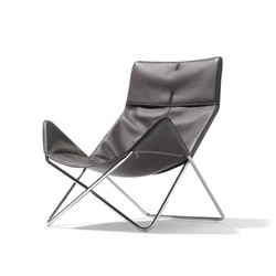 In-Out lounge chair leather | Poltrone lounge | Richard Lampert