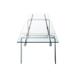 Stilt Glass extendable table | Meeting room tables | Desalto